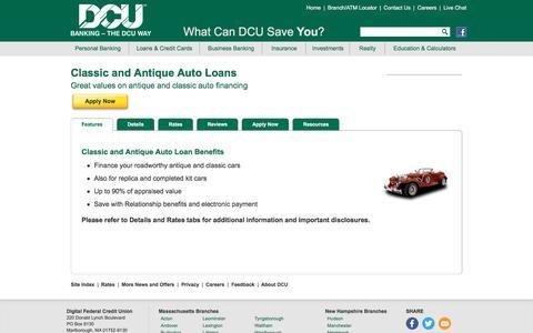 Classic and Antique Auto Loans | DCU | MA | NH