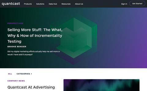Quantcast Blog | Quantcast