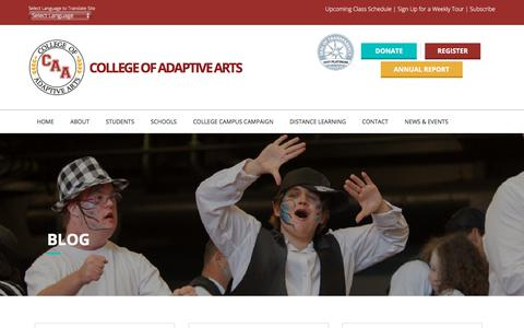 Screenshot of Blog collegeofadaptivearts.org - Blog – College of Adaptive Arts - captured July 8, 2018