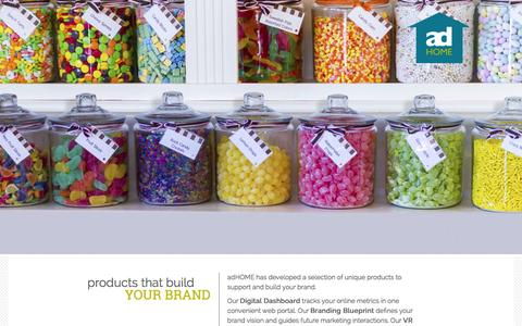 Screenshot of Products Page adhomecreative.com - Products | adHOME Creative | Marketing, Advertising and Digital Agency, London, Ontario - captured Feb. 6, 2016