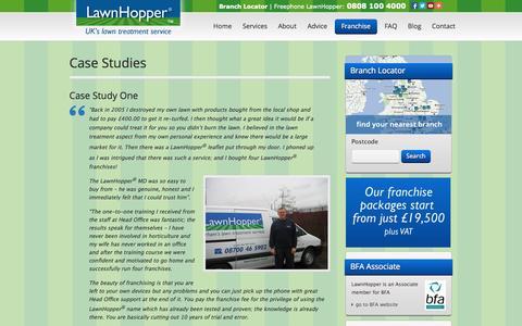 Screenshot of Case Studies Page lawnhopper.co.uk - Case Studies - UK's Lawn Treatment Service - captured Sept. 29, 2014