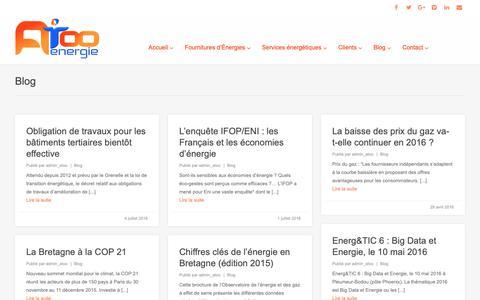 Screenshot of Blog atoo-energie.com - Atoo Energie - Blog et actualités sur les énergies en Bretagne, Rennes - captured Nov. 6, 2018
