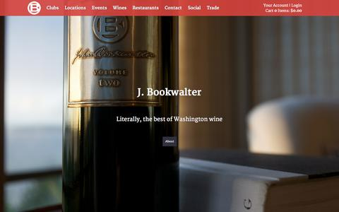 Screenshot of Home Page bookwalterwines.com - John Bookwalter Winery · Woodinville & Richland - captured Jan. 23, 2015
