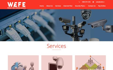 Screenshot of Services Page wefe.in - Wefe Technology Pvt. Ltd - captured Dec. 3, 2016