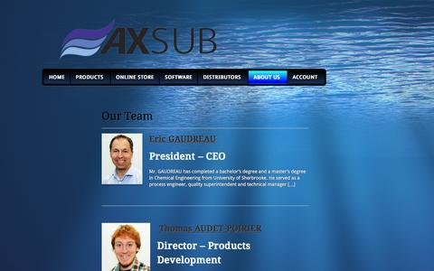 Screenshot of Team Page axsub.com - Our Team | AXSUB - captured Feb. 5, 2016