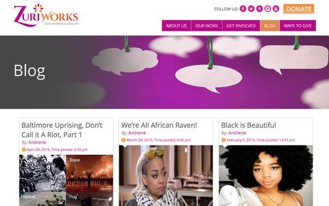 Screenshot of Blog zuriworks.org - Blog   zuriworks - captured Feb. 23, 2016