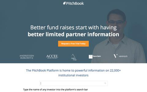 Screenshot of Landing Page pitchbook.com - Private Company Data - PitchBook - captured May 5, 2018