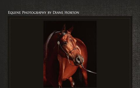 Screenshot of Home Page dianehortonphoto.com - Equine Photography by Diane Horton - captured Oct. 12, 2017