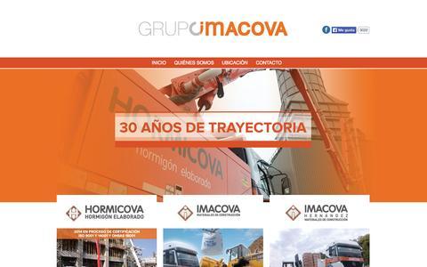 Screenshot of Home Page grupoimacova.com.ar - Grupo Imacova - captured Jan. 21, 2015