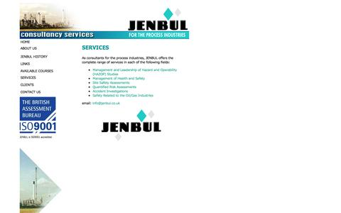 Screenshot of Services Page jenbul.co.uk - Range of Services - JENBUL - captured Sept. 30, 2014