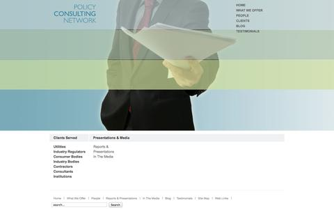 Screenshot of Home Page policyconsulting.co.uk - policyconsulting.co.uk - captured Oct. 2, 2014