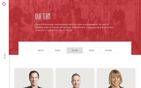Screenshot of Team Page revolve.ca - Our Team   Revolve Branding & Marketing   Halifax, NS, Canada - captured July 13, 2018