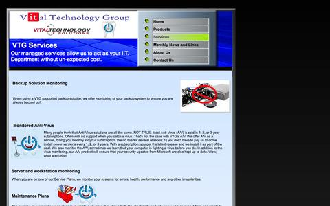 Screenshot of Services Page godigitaldds.com - Services - captured Oct. 27, 2014