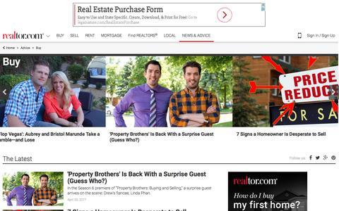 Screenshot of Contact Page realtor.com - Buy   Real Estate News & Advice   realtor.com® - captured April 21, 2017