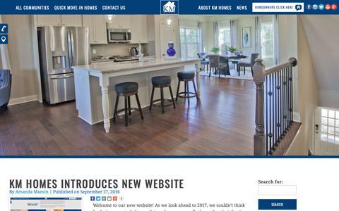 Screenshot of Press Page kmhomes.com - News - KM Homes - captured Dec. 10, 2018