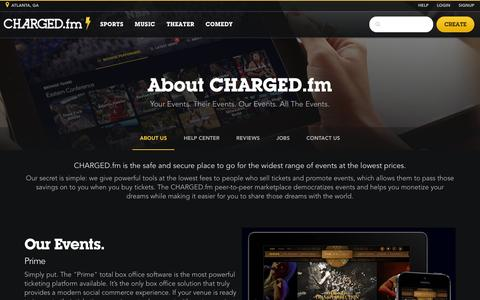 Screenshot of About Page charged.fm - About Us | CHARGED.fm - captured June 17, 2015