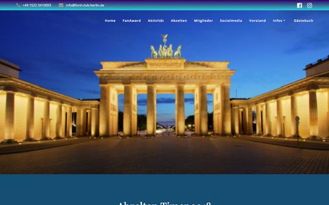 Screenshot of Home Page ford-club-berlin.de - Ford Club Berlin e.V. - captured June 27, 2018