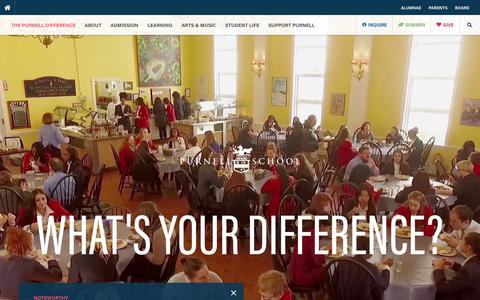 Screenshot of Home Page purnell.org - Home - Purnell School - captured Feb. 2, 2016