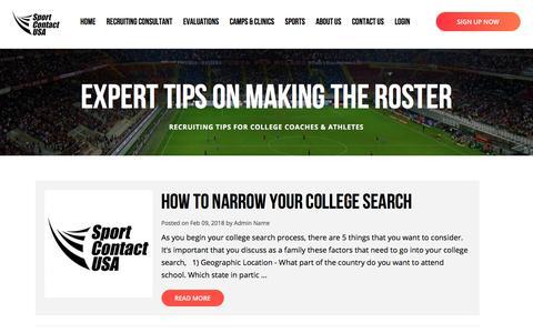 Screenshot of Blog nationaladr.us - Sport Contact USA - captured Feb. 13, 2018