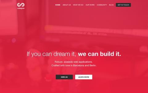 Screenshot of Home Page codegram.com - Codegram - captured Sept. 12, 2015