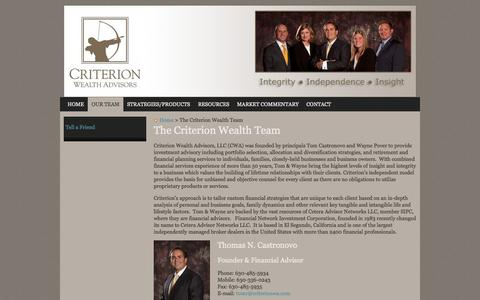 Screenshot of About Page criterionwa.com - The Criterion Wealth Team | Criterion Wealth Advisors, LLC - captured Oct. 3, 2014
