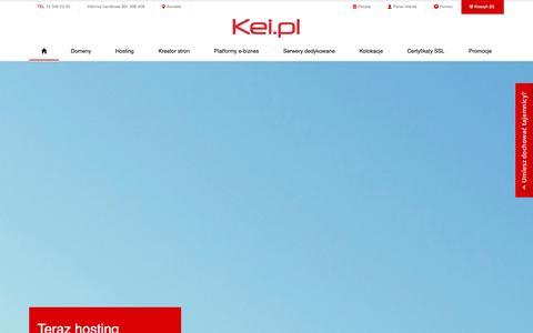 Screenshot of Home Page kei.pl - Hosting, domeny, serwery dedykowane - Kei.pl - captured Sept. 18, 2014