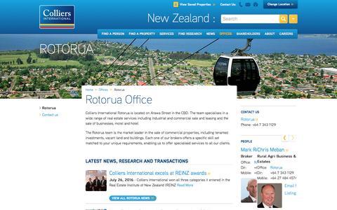 Rotorua Office | New Zealand | Colliers International