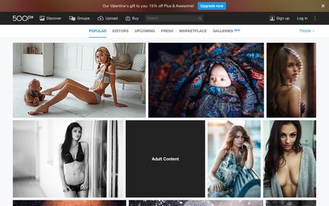 Most Popular People Photos on 500px Right Now