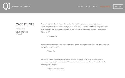 Screenshot of Testimonials Page quadrasinc.com - SOUTHEASTERN APPAREL —  QUADRAS INTEGRATED - captured July 13, 2016
