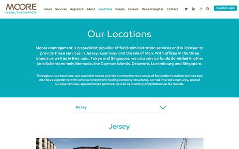 Screenshot of Locations Page mooremanagement.com - Moore Management Locations - captured Nov. 29, 2016