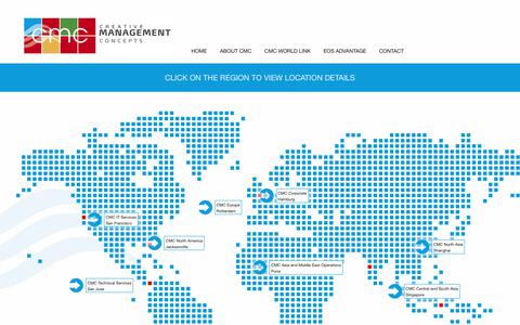Screenshot of Contact Page Locations Page cmcintl.com - Locations – CMC International - captured July 9, 2017