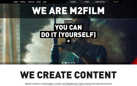 Screenshot of Home Page m2film.dk - M2Film   Film company in Aarhus, Copenhagen and Bangkok - captured Dec. 14, 2015