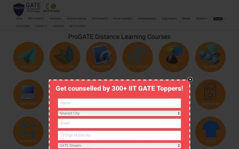 Screenshot of Pricing Page progatecoaching.com - Pricing - #1 GATE Institute in India - ProGATE GATE Coaching by 300 IIT/IISc GATE Toppers - captured Feb. 1, 2016