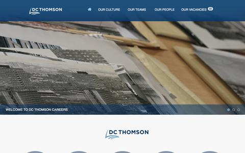 Screenshot of Jobs Page dcthomson.co.uk - DC Thomson Careers – For a wide range of vacancies. - captured Aug. 5, 2018