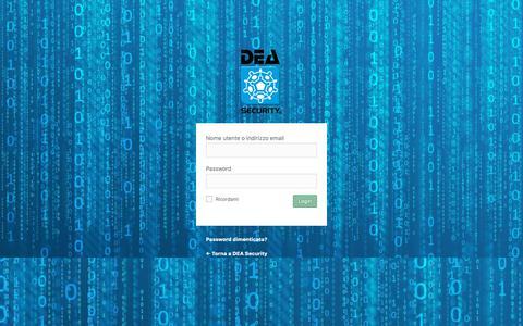Screenshot of Login Page deasecurity.com - Login ‹ DEA Security — WordPress - captured Oct. 7, 2018