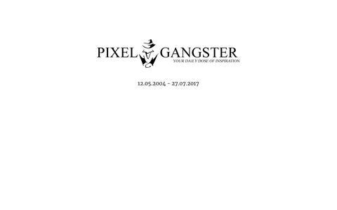 Screenshot of Home Page pixelgangster.de - Pixelgangster - captured Oct. 14, 2018