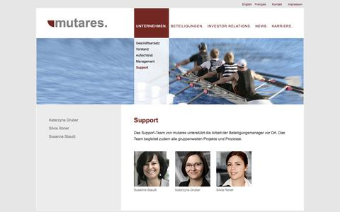 Screenshot of Support Page mutares.de - Support | mutares - captured Oct. 7, 2014