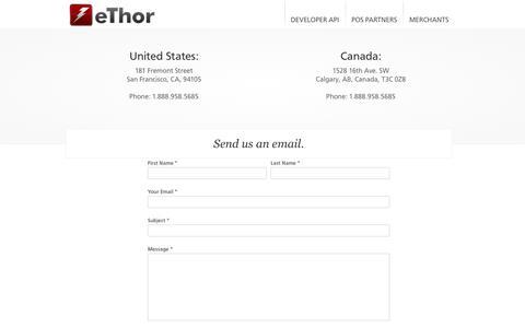 Screenshot of Contact Page ethor.com - Contact - captured Sept. 16, 2014
