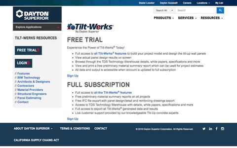 Screenshot of Trial Page daytonsuperior.com - Trial - captured Dec. 8, 2016