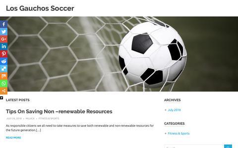 Screenshot of Home Page losgauchossoccer.com - Los Gauchos Soccer – My site - captured Sept. 30, 2018