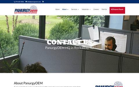 Screenshot of Contact Page panurgyoem.com - Contact Us - PanurgyOEM - captured July 15, 2018