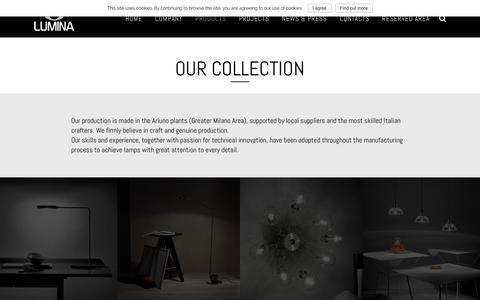 Screenshot of Products Page lumina.it - Products | Lumina Italia Srl - captured Feb. 2, 2016