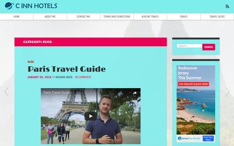 Screenshot of Blog cinnhotels.com - Blog – C INN HOTELS - captured May 11, 2017