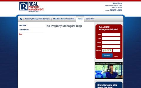 Screenshot of Blog realpropertymgt.com - Miami BeachRental Property Management Company - Real Property Management - captured Oct. 26, 2014