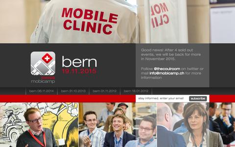 Screenshot of Home Page mobicamp.ch - Swiss Mobile Basecamp | Mobicamp - captured Sept. 2, 2015