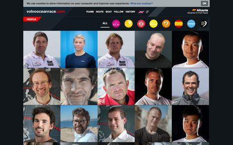 Screenshot of Team Page volvooceanrace.com - People | Volvo Ocean Race 2014-2015 - captured Sept. 23, 2014