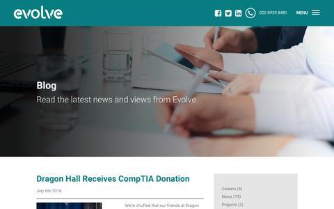 Screenshot of Blog evolvecomputers.co.uk - Blog   Evolve Computers - captured July 16, 2016