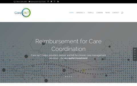 Screenshot of Home Page care-24-7.com - Chronic Care Management   Care 24-7 - captured Dec. 7, 2015