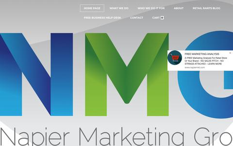 Screenshot of Home Page napiermkt.com - Napier Marketing Group Inc. - captured Oct. 18, 2018