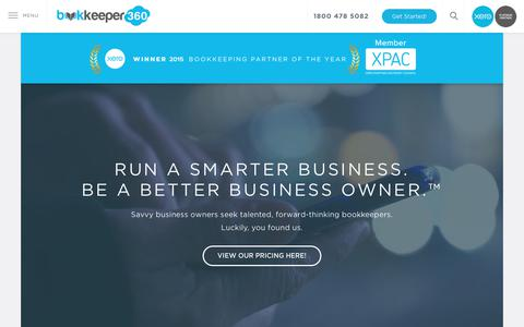 Screenshot of Home Page bookkeeper360.com - Bookkeeper360: Xero Platinum Bookkeeping and Accounting Firm - captured July 5, 2017